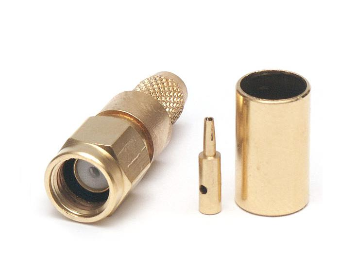 RF RSMA male gold plated connector for H155, RF240 internal thread