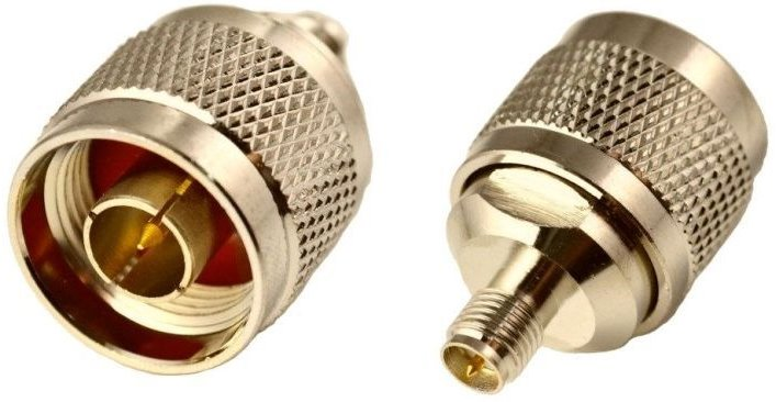 RF N male coupler for RSMA female