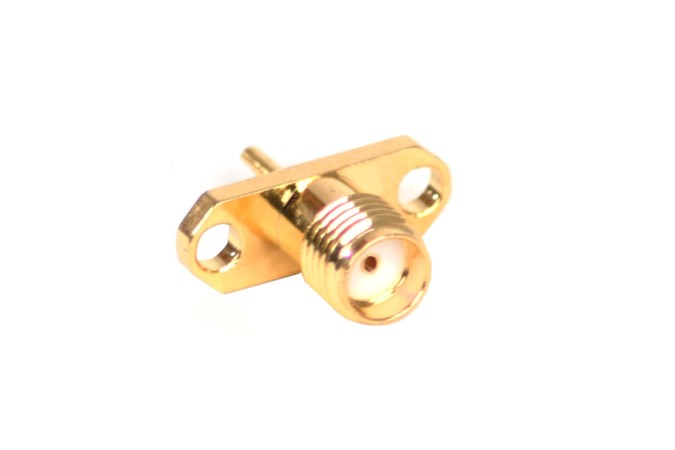 VF SMA female connector gold-plated panel