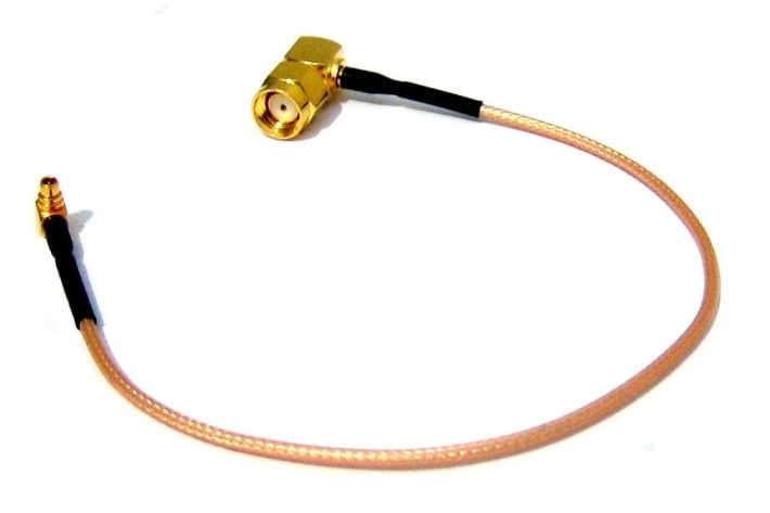 Pigtail 25cm RG316 MMCX - RSMA male 90° angled